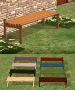 Backless Deck Bench Preview