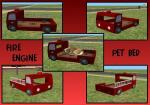 Fire Engine Pet Bed Preview