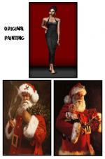 2 Santa Paintings Preview