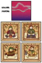 4 Snowmen Paintings Preview