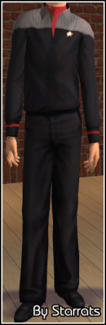 Red Starfleet Uniform Preview