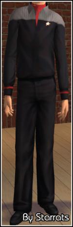 Red Starfleet Uniform Preview