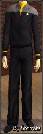 Yellow Starfleet Uniform Preview