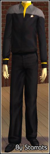 Yellow Starfleet Uniform Preview