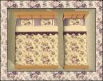 Beige/Purple Floral Bedding Preview