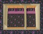 Black&Purple Floral Bedding Preview