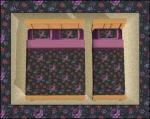 Black&Purple Floral Bedding Preview