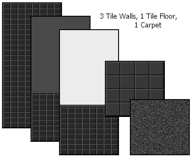 Tile Me Tender Walls & Floors (Black) Preview