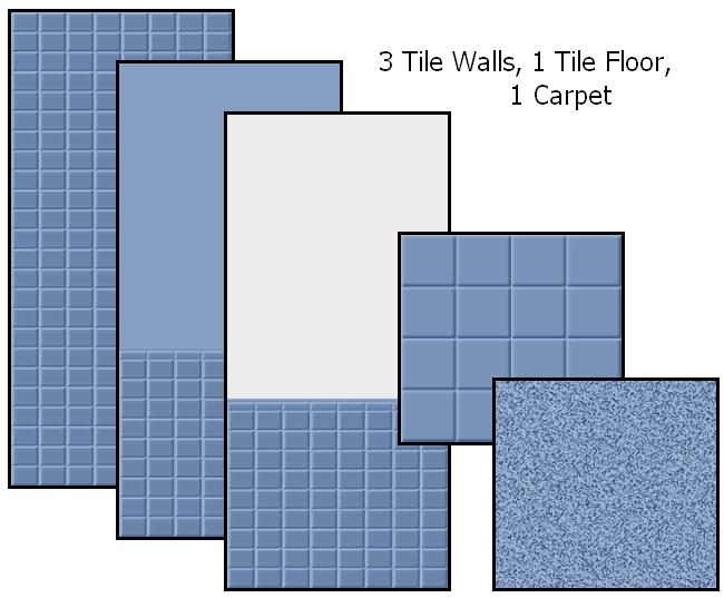 Tile Me Tender Walls & Floors (Blue) Preview