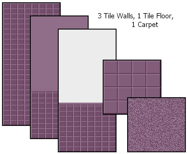 Tile Me Tender Walls & Floors (Plum) Preview