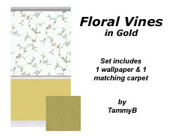 Floral Vines in Gold Preview