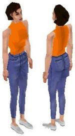 Orange Sleeveless Skin Preview