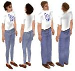 LA Dodgers T-Shirt Skin Set Preview