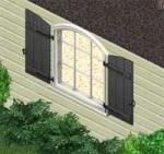 Black Shuttered Window Preview