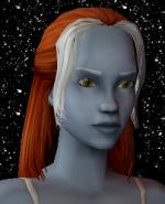 Red and White Female Elf Hair 1 Preview