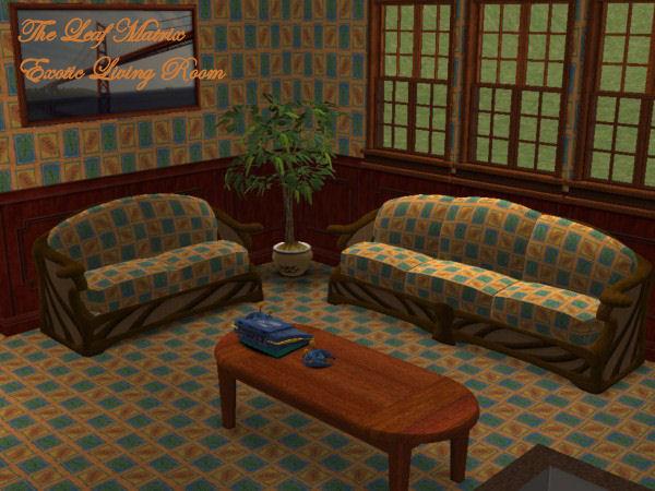 Leaf Matrix Living Room Preview