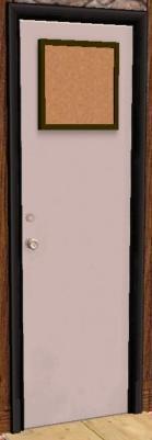 White Dorm Door Preview