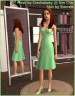 Green summer dress Preview