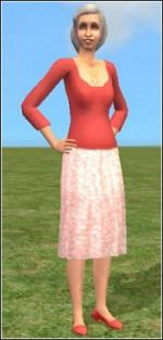 Light red granny dress Preview