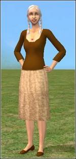 Brown granny dress Preview