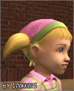 Green and Pink Bandana for Toddlers Preview