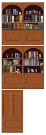 CubbyHole bookcase walls in lightwood Preview