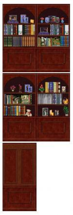 CubbyHole bookcase wall in darkwood Preview