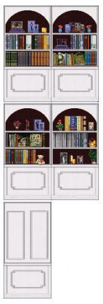 CubbyHole bookcase wall in whitewood Preview