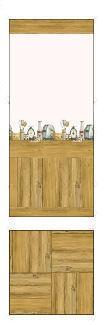 Kitchen Utensil Wallpaper and Floor Preview